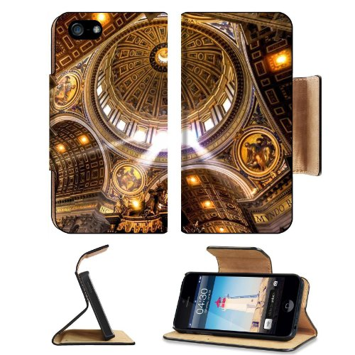 Cityscapes Architecture Bridges New York Apple Iphone 5 / 5S Flip Cover Case With Card Holder Customized Made To Order Support Ready Premium Deluxe Pu Leather 5 3/16 Inch (132Mm) X 2 11/16 Inch (68Mm) X 9/16 Inch (14Mm) Msd Iphone 5 Professional Cases Tou