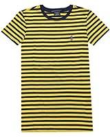 Ralph Lauren Sport Women Crew Neck Striped Pony Logo Tee