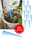 Set of 10 Watering Spikes Plastic Water Bottles Economical