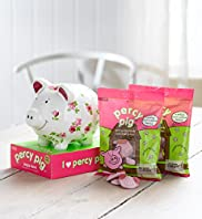 Percy Pig - Ceramic Piggy Bank & Percy Pig Sweets Hamper