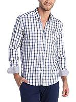 SIR RAYMOND TAILOR Camisa Hombre (Azul / Blanco)