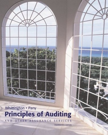 MP Principles of Auditing w/ Internal Control/What is Sarbanes Oxley/PW