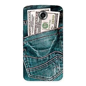 Impressive Money Money Colorful Jeans Back Case Cover for Nexsus 6