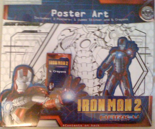 Iron Man2 Poster Art 3 Posters/Jumbo Stickers/6 Crayons