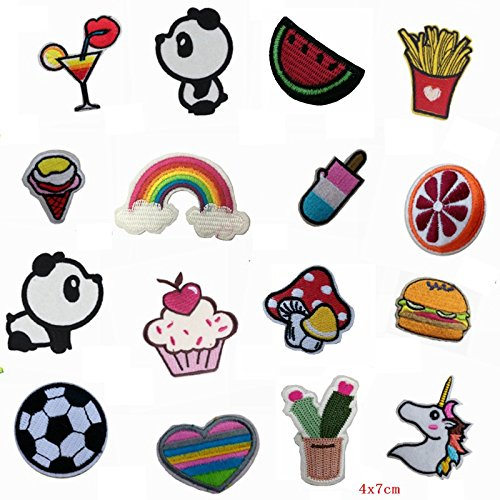 Random Mixed Patch Lot Food Embroidered Appliques Kids Iron On Cartoon Cute Patches For Clothes Stickers Rainbow Patch Cheap (Cheap Iron On Patches compare prices)
