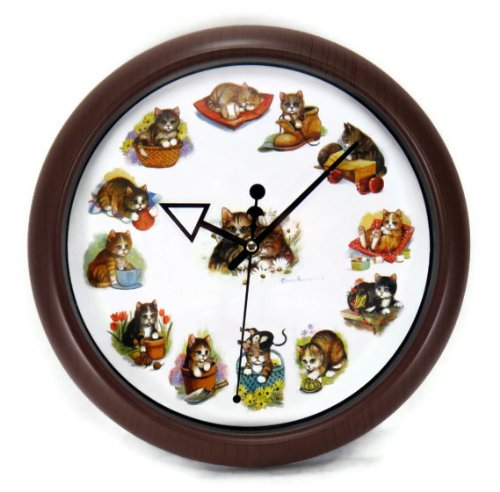 Funky kitty cat wall clocks - Kitty cat clock ...