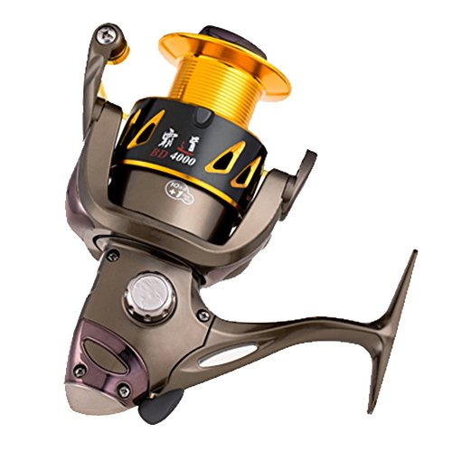 Winbest Fishing 11bb Coffe Color Spinning Fishing Reel BD4000(4000 Series) (Open Face Catfish Reels compare prices)