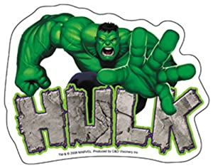 "The Incredible HULK Reach STICKER, Officially Licensed Marvel's Comic Superhero, 4"" x 5"" - Long Lasting Sticker DECAL"