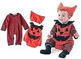 Cuteshower ハロウィン 衣装 仮装 子供 着ぐるみ ベビー ロンパース かぼちゃ コスチューム 70cm(0-6ヶ月)