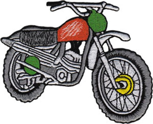Application Red Dirt Bike Patch - 1