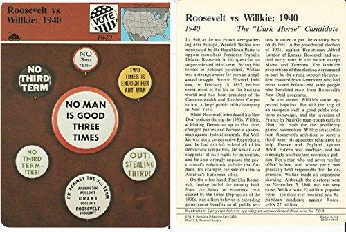 1979 Panarizon, Story Of America, #31.03 Roosevelt vs Willkie 1940
