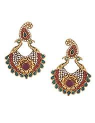 8 Republic London Dual Peacock Stone Embellieshed Chandelier Earrings For Women For Women