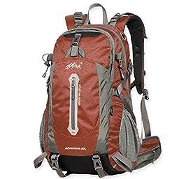 Aonijie 50 Liter Bronze Color Professional Waterproof Outdoor Sports Climbing Backpack Bag Cover Mountaineering Backpack Shoulder Bag Camping Hiking Backpack Rucksack