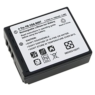 Panasonic CGA-S007A/1B Rechargeable Lithium Ion Battery for Panasonic DMC-TZ1-Series Digital Cameras By TITAN