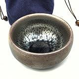 Pottery Mall 油滴天目 茶碗 丸抹茶碗 手作り 窯変 建盞 和食器 酒盃 (AM0683)10月17日新入荷!