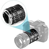 Neewer® Auto Focus Macro Extension Tube Set for Canon EOS DSLR SLR Lens, Extreme Close-Ups (Silver) (Metal Bayonet 13-21-31mm)