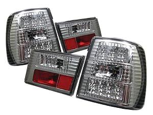 Redlines TL-BE3488-LED-CH Chrome Medium LED Tail Light for BMW E34 5-Series '88-'95 - Pair