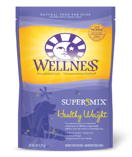 See Wellness Super5Mix Healthy Weight Recipe Dog Food, 5-Pound Bag