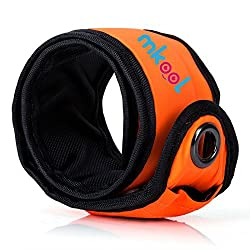 MKOOL Pack of 2 LED Safety Slap Armband for Running Cycling Jogging or Walking At Night orange