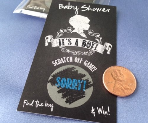 Scratch Off Game Cards - It'S A Boy Baby Shower Scratch Off Cards Set 25 Cards (24 Sorry 1 Winner)