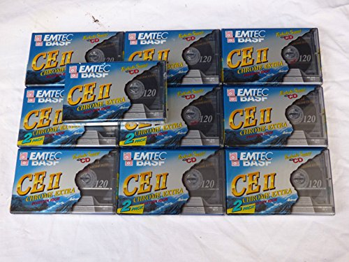 10-x-brand-new-basf-ce-ii-type-ii-chrome-120-min-blank-audio-cassette-tapes