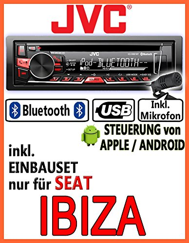 Seat ibiza 6L jVC-kD-r861BT-autoradio cD/mP3/uSB avec kit de montage