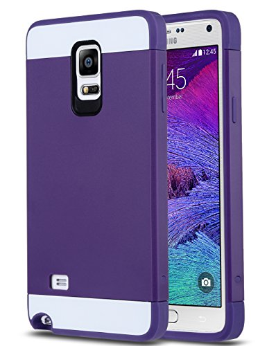 ULAK Slim TPU Hybrid Dual Layer Case for Samsung Galaxy Note 4 - Purple / Purple (Galaxy Note Edge Cases For Women compare prices)