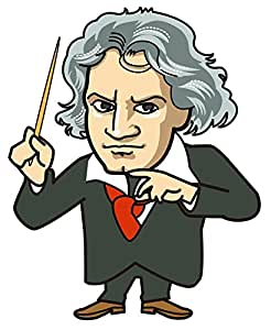 Amazon.com: Wallmonkeys WM20304 Beethoven Conduct Peel and Stick Wall