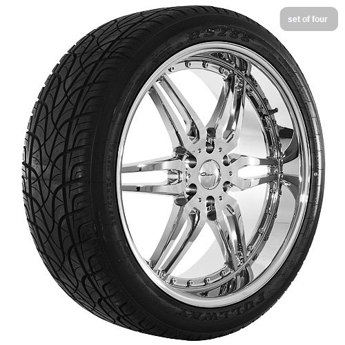 24 Inch Chrome 6135 Series Wheels Rims and Tires
