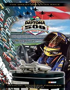 NASCAR Canvas 36 x 48 Daytona 500 Program Print Race Year: 46th Annual - 2004 by Mounted Memories