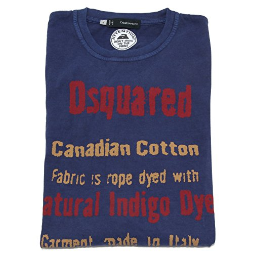 7491F maglia blu DSQUARED D2 MANICA LUNGA polo uomo t-shirt men [S]