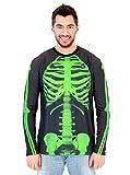 Green Skeleton Adult Long Sleeve Costume T-Shirt