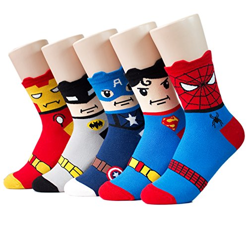 Super Heros Series Women's Socks 5pairs(5color)=1pack Made in Korea