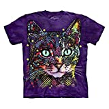 The Mountain Watchful Cat Adult Purple T-shirt