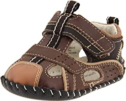 pediped Originals Piers Sandal (Infant),Chocolate Brown,Extra Small (0-6 Months)