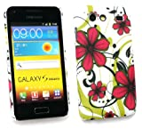 Emartbuy Samsung I9070 Galaxy S Advance Red Hawaiian Flowers Clip On Protection Case/Cover/Skin