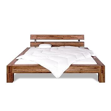 Strong Holzbett Bettrahmen Bett 204 x 80 x 224 cm naturfarben geölt Massivholz