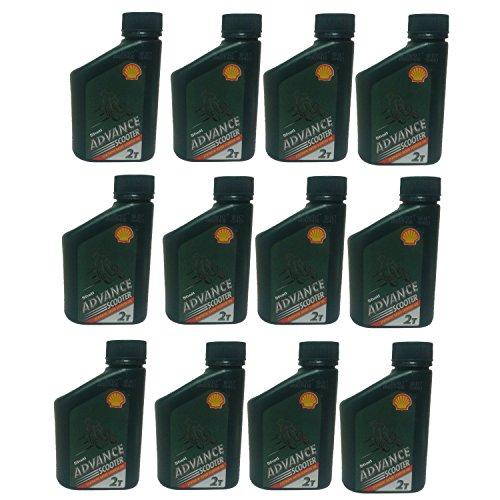 500-ml-flasche-shell-advance-2-stroke-teilsynthetisches-ol-500-ml-scooter-rasenmaher-motorsage