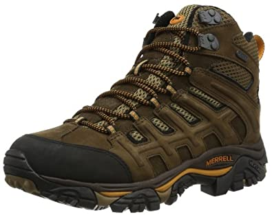 Buy Merrell Mens Moab Peak Mid Vent Waterproof Hiking Boot by Merrell