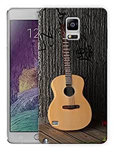 """Humor Gang Guitar And Roses - Music And Love Printed Designer Mobile Back Cover For """"Samsung Galaxy Note 4"""" (3D, Matte, Premium Quality Snap On Case)"""