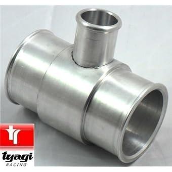 51mm Aluminio BOV T Pieza De Tubo Manguera Adaptador De La Válvula De Descarga Manguera De Silicona 5.1cm OD