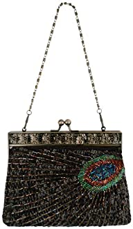 MG Collection Black Antique Beaded Se…