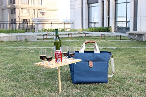 Le sac fashion thermal tote bag insulated wine bottle for Table camping valise