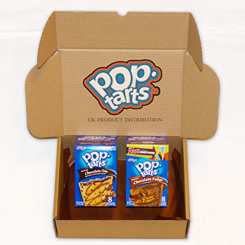 Kellogg's Pop Tarts Huge American Selection Gift Box - Chocolate Chip and Chocolate Fudge - 2 Boxes - The Perfect Gift From UKPD
