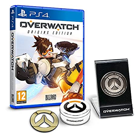 Overwatch Origins Edition - 'Memory of War' Metal Coin & Metal Badge Bundle (Exclusive to Amazon.co.uk) (PS4)