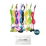 Gadget.Cool 10pcs Pack of 10 Wholesale Bundle Wire Cord Color Simple 3.5mm Earphones Earbuds Headphones Headsets for Android Nexus Samsung Sony HTC Motorola iPhone 6/6s 5/5s 4/4s MP3 (8 Mixed Colors)
