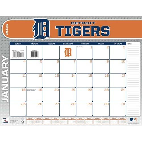 Turner Perfect Timing 2015 Detroit Tigers Desk Calendar, 22 X 17 Inches (8061417)