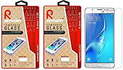 Raydenhy Pack of 2 (2 PCS) 2.5D Curved Edges 0.33MM Thickness Tempered Glass For Samsung Galaxy J5 2016 Model