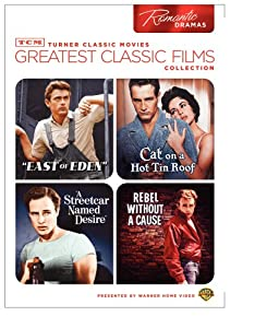 Tcm Greatest Classic Films Collection Romantic Dramas East Of Eden Cat On A Hot Tin Roof A Streetcar Named Desire Rebel Without A Cause from Turner Home Ent