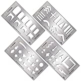 BMC 4pc DIY Decal Making Nail Stamping Metal Guide Templates